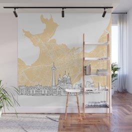 Tallinn Estonia Skyline Map Wall Mural
