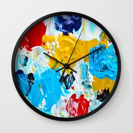 Primary Colors Abstract Wall Clock