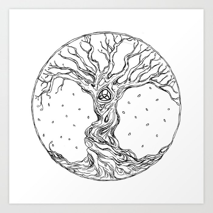 Celtic Tree Of Life Art Print By Presgrovedesigns
