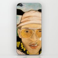 fear and loathing iPhone & iPod Skins featuring Fear & Loathing by Lindsey Pudlewski