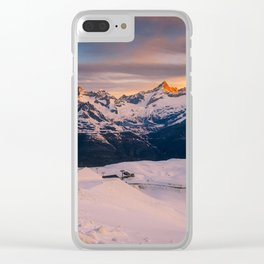 Alpine sunrise (RR201) Clear iPhone Case