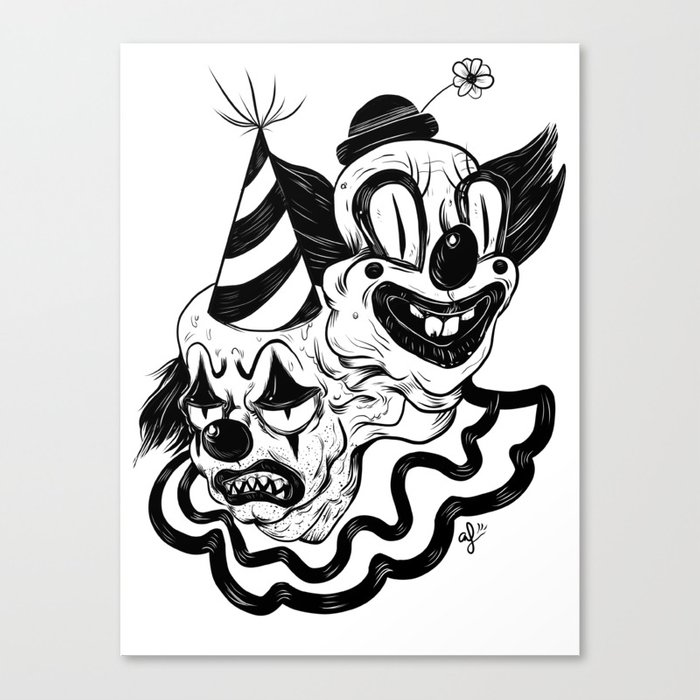 Coulrophobia Canvas Print