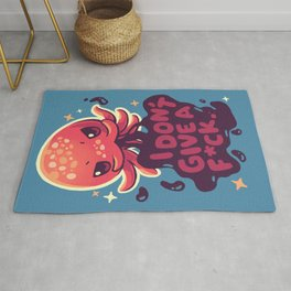Octopus Doesn't Care Rug