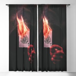 Fire Aces Blackout Curtain