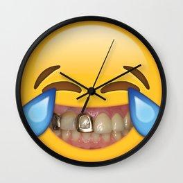 Tears Of Moderate Joy Wall Clock
