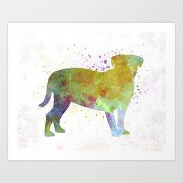 Dogo de Bordeaux in watercolor Art Print