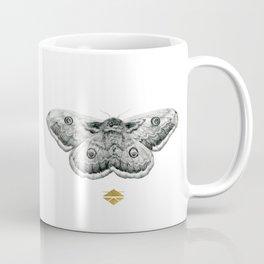 Perseverance - Moth Graphite Drawing by Brooke Figer Coffee Mug