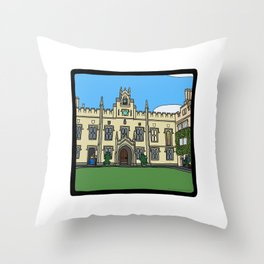 Cambridge struggles: Sidney Sussex Throw Pillow