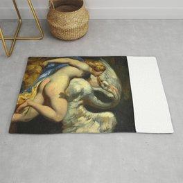 """Théodore Géricault """"Léda et le cygne ('Leda and the Swan')"""" Rug"""