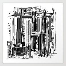 Abstract City #2 Art Print