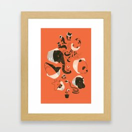 Cones of Shame (orange) Framed Art Print