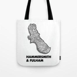Hammersmith & Fulham - London Borough - Detailed Tote Bag