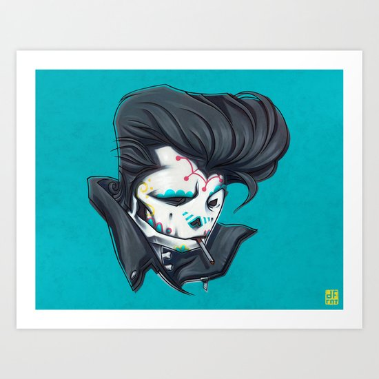 SLICK paint Art Print