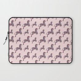 African pink zebras Laptop Sleeve