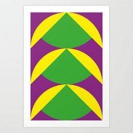 Of course those are Green Beans coming out from Yellow Shells. Happening in a Purple River. Art Print
