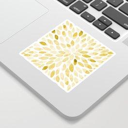 Watercolor brush strokes - yellow Sticker