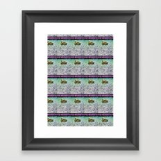 Pelican Pattern (d) Framed Art Print