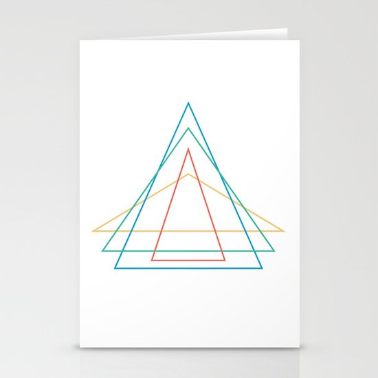 4 triangles Stationery Cards