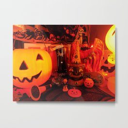 Vintage Halloween Magic Metal Print
