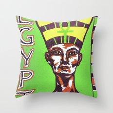 Egyptian Queen Throw Pillow
