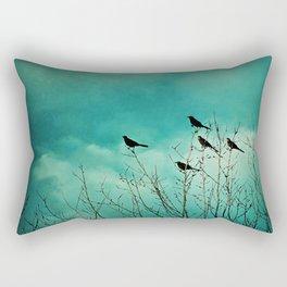 Like Birds on Trees Rectangular Pillow