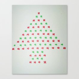 Christmas Tree in Red and Green Canvas Print