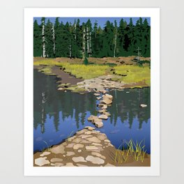 Rock Lake Version 2 Art Print