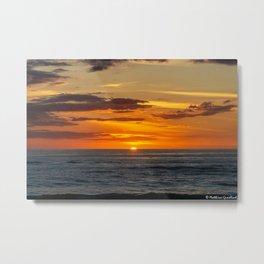 Sunset North Sea Denmark Bjerregard Beach 10 Metal Print
