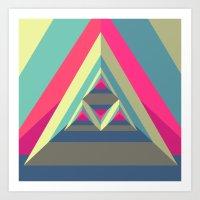 Triangle President Art Print