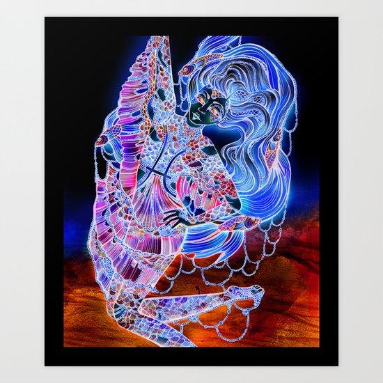 Astrology Illustration Series-Pisces Art Print