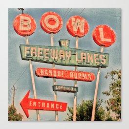 Freeway Lanes Bowl - Selma, CA Canvas Print