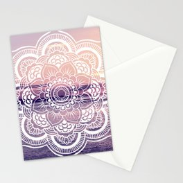 Water Mandala Amethyst & Mauve Stationery Cards