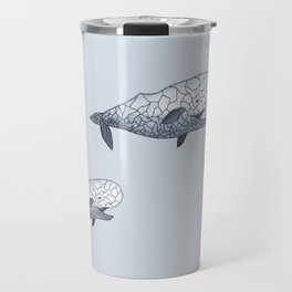 happy whale Travel Mug
