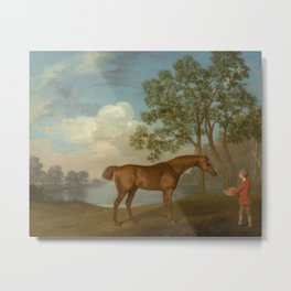 George Stubbs - Pumpkin with a Stable-lad Metal Print