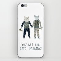 toddler iPhone & iPod Skins featuring You are the Cat's Pajamas by Yuliya