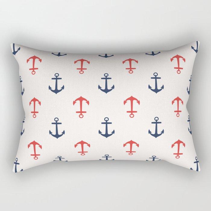 Nautical anchor pattern Rectangular Pillow