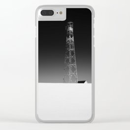 High mast in czech winter landscape in Ore Mountains Clear iPhone Case