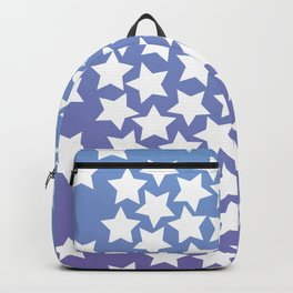 Lots of Black Stars on Gradient Background Backpack