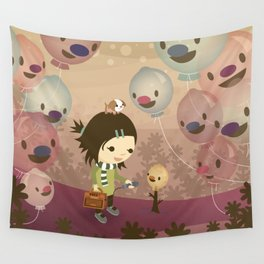 Balloon Tree Song Wall Tapestry