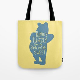 Rumbly in my Tumbly Time for Something Sweet - Winnie the Pooh inspired Print Tote Bag