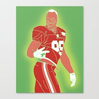 49ers Canvas Prints featuring 49ers Vernon Davis by Courtney Charlton