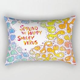 Happy Virus Rectangular Pillow