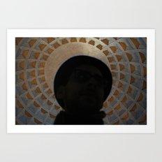 Pantheon Hat Art Print