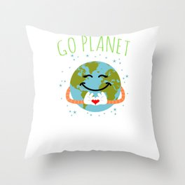 Go Planet It's Your Earth Day Throw Pillow