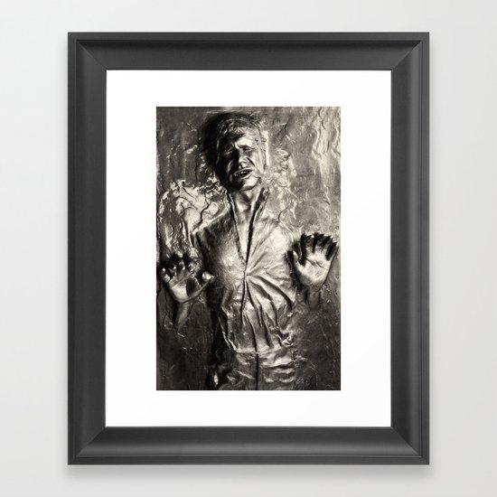 Han Solo carbonite Framed Art Print