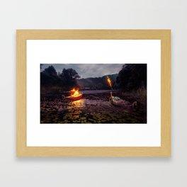 A Warrior's End Framed Art Print