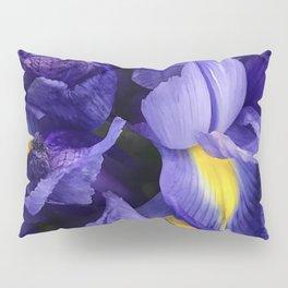 Vibrant Purple Iris Flowers Close-Up Artsy Photo Pillow Sham