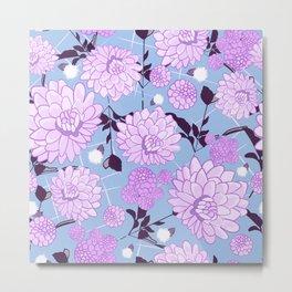 Soft calming lilac spring florals design Metal Print