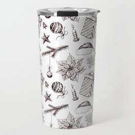 Christmas seamless pattern Travel Mug
