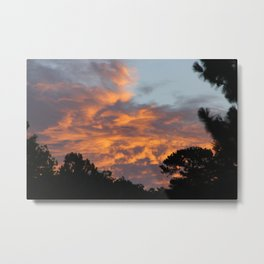 There is fire in the Sky. Sunset series Metal Print